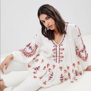 Free people embroidery tunic top ASOS